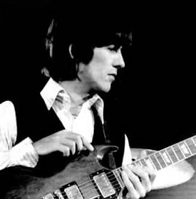 George Harrison with Gibson SG guitar